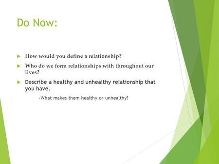 how do you define a healthy relationship