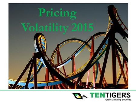 Pricing Volatility 2015. DISCLAIMER The information and opinions presented are of a general nature only and do not take into account the particular needs.