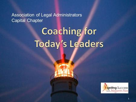 Coaching for Today's Leaders