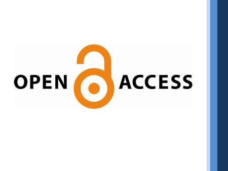 What is the value of publishing in an open access journal?