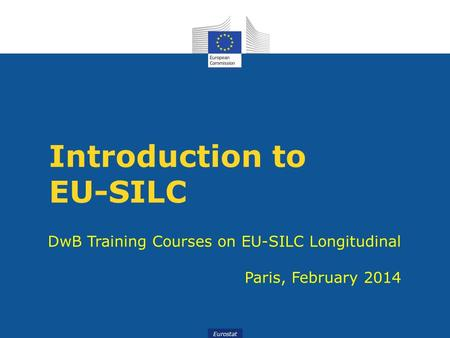 Introduction to EU-SILC
