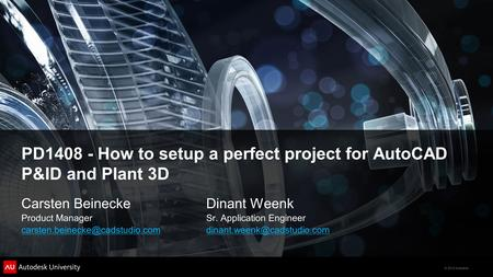 PD How to setup a perfect project for AutoCAD P&ID and Plant 3D