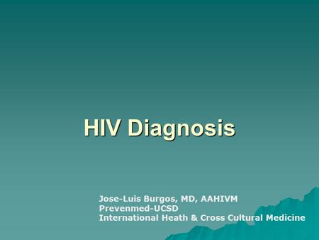 Crosscultural psychology hiv aids