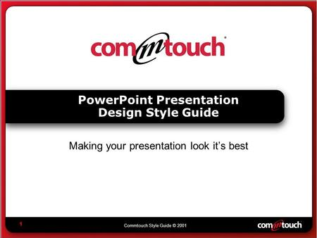 PowerPoint Presentation Design Style Guide