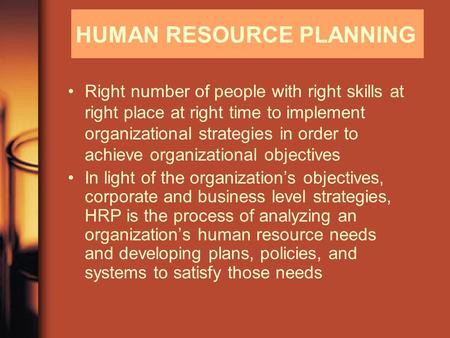 human resources planning in organizations Human resources development in environmental and occupational health has been a priority of who for many years specific initiatives in human resources development have included education and training programmes for government officials on topics such as drinking water supply and sanitation.