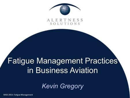 Managing fatigue in aviation maintenance