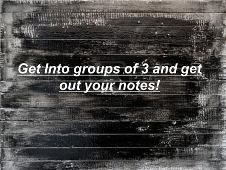 Get Into groups of 3 and get out your notes!.  For each example, as a group:  Examine the cartoon. What event/idea/behavior is the artist alluding to.
