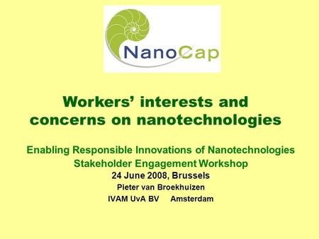 the benefits and risks of nanotechnology Scientists and engineers believe nanotechnology can be used to benefit human health now and in the future according to a report published today of a workshop held by the royal society and the royal academy of engineering.