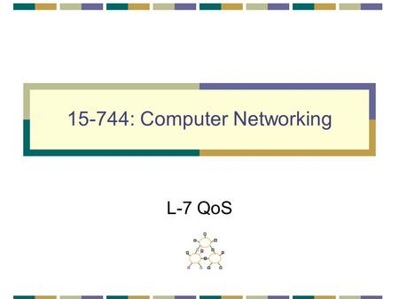 15-744: Computer Networking L-7 QoS. QoS IntServ DiffServ Assigned reading [She95] Fundamental Design Issues for the Future Internet Optional [CSZ92]