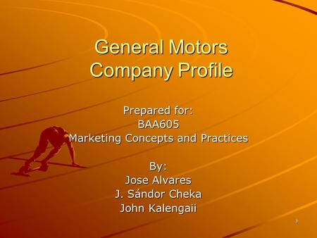 Agenda about toyota kevin industry analysis for General motors company profile