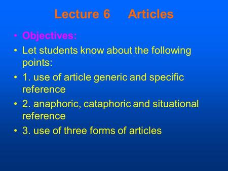 Cataphoric vs Anaphoric References
