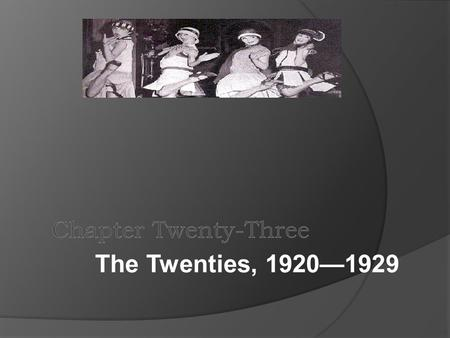 The Twenties, 1920—1929. The Movie Audience and Hollywood.