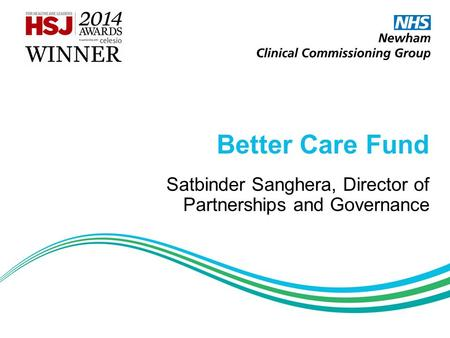 Satbinder Sanghera, Director of Partnerships and Governance