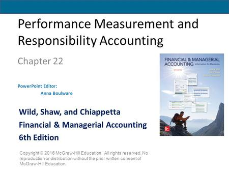 Performance Measurement and Responsibility Accounting