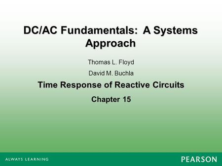 Time Response of Reactive Circuits