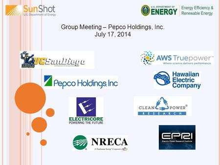 Group Meeting – Pepco Holdings, Inc. July 17, 2014.
