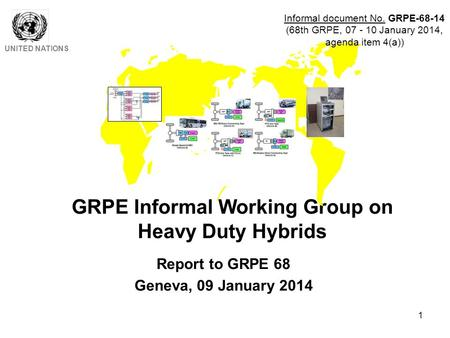 1 GRPE Informal Working Group on Heavy Duty Hybrids UNITED NATIONS Report to GRPE 68 Geneva, 09 January 2014 Informal document No. GRPE-68-14 (68th GRPE,