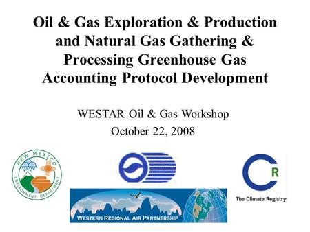 WESTAR Oil & Gas Workshop