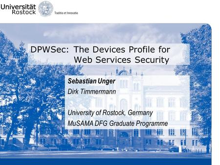 DPWSec: The Devices Profile for Web Services Security