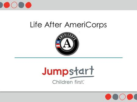 Life After AmeriCorps. 2 Agenda Introductions & Icebreaker15min Central Ideas & Practice45min Questions & Conversation25min Closing5min.