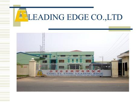 LEADING EDGE CO.,LTD. Brief introduction  Company Profile  Workshops  Vision.