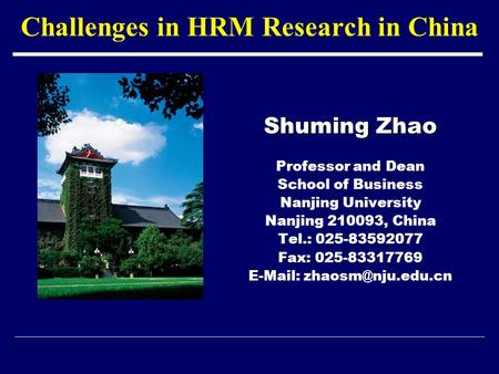 china hrm issues However, hrm is in a developing stage in china most issues affect the  development of hrm chinese state owned companies are the typical  representatives.
