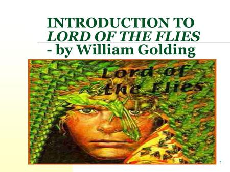 an introduction to the symbolism of society in lord of the flies by william golding