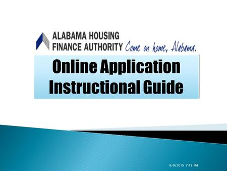 Online Application Instructional Guide Online Application Instructional Guide 9/9/2015 7:44 PM.