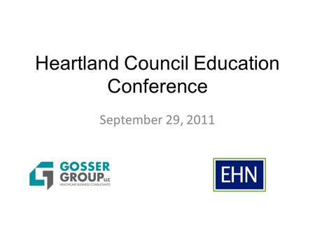 Heartland Council Education Conference September 29, 2011.