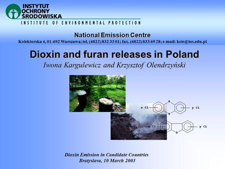 Dioxin and furan releases in Poland