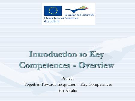 Introduction to Key Competences - Overview