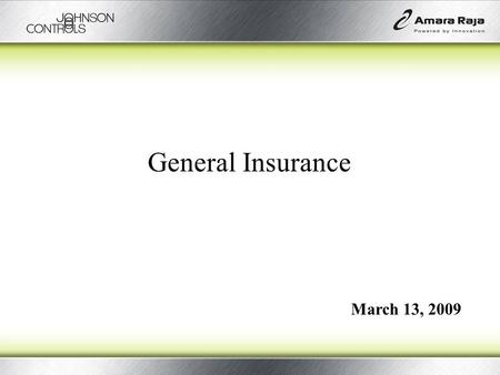 General Insurance March 13, 2009. General Insurance - Matrix.
