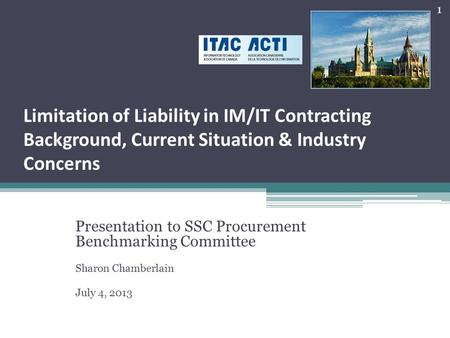 Presentation to SSC Procurement  Benchmarking Committee