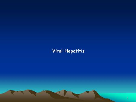 1 Viral Hepatitis. 2 Hepatitis A Virus 3 1. Epidemiology  Has a worldwide distribution (low, intermediate & high endemicity).  Highest levels of endemicity.
