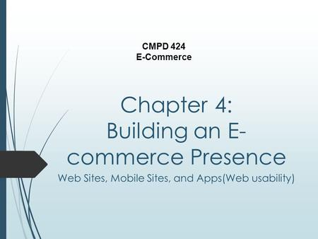 Chapter 4: Building an E-commerce Presence