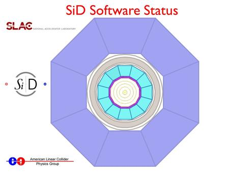 SiD Software Status. Framework Overview Pythia, WHIZARD, etc. Pythia, WHIZARD, etc. SLIC Tracking, PFA, etc. LCSim StdHep LCIO Events JAS3 (or any AIDA.