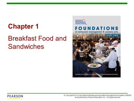 Chapter 1 Breakfast Food and Sandwiches.