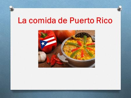 La comida de Puerto Rico. Arroz con gandules Arroz con gandules is a yellow rice with pigeon peas and pieces of meat and spices. Different kinds of meat.