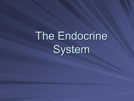 The Endocrine System. Exocrine vs Endocrine Classified by location of secretion Exocrine- through tube or duct to a surface Endocrine- secrete into internal.