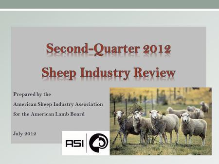 I. Feeder and Slaughter Lamb Market Trends.