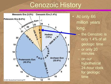 Cenozoic History At only 66 million years long,