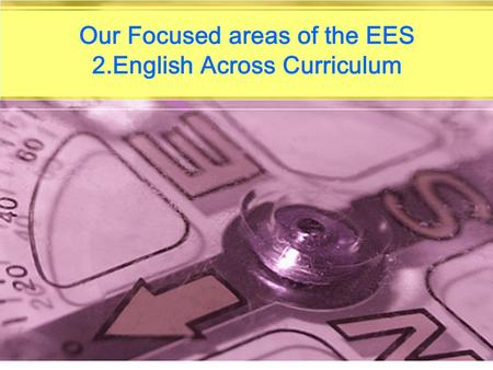 Our Focused areas of the EES 2.English Across Curriculum.