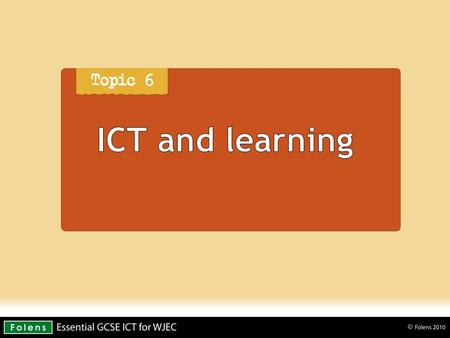 ICT and learning.