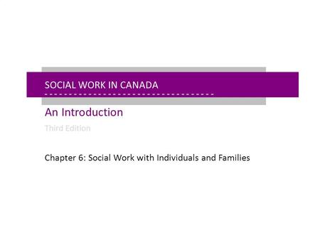 - - - - - - - - - - - - - - - - - - - - - - - - - - - - - - - - - - - - - - - - - - - - - - - - - - - - - Chapter 6: Social Work With Individuals Social.