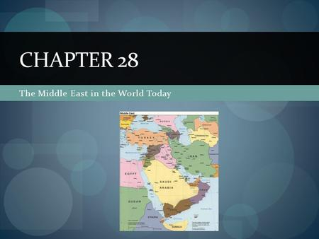 The Middle East in the World Today