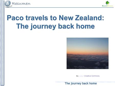The journey back home By Cako- Creative CommonsCako Paco travels to New Zealand: The journey back home.
