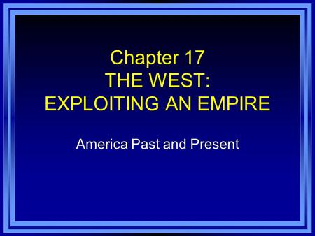 chap 20 america past present Past, present, and future  the past 20 years have witnessed  mart, weissberg , & kendziora, chapter 32,  a third-party evaluation by the american.