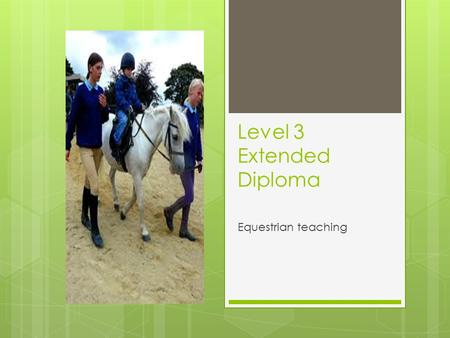 Level 3 Extended Diploma Equestrian teaching. Aims and objectives  What are aims and objectives?  The aims of this session are:  To plan the content.
