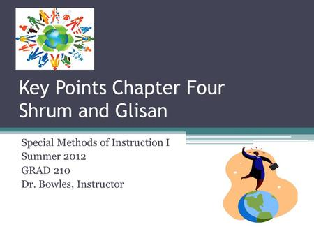 Key Points Chapter Four Shrum and Glisan Special Methods of Instruction I Summer 2012 GRAD 210 Dr. Bowles, Instructor.