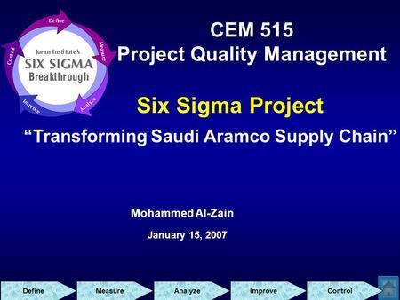 Aramco supply chain management